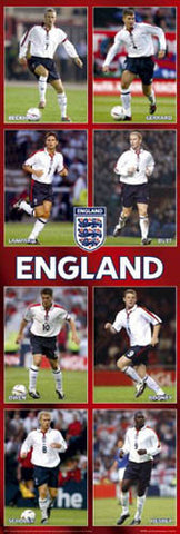 "Team England Football 2004 ""Big-Time"" Door-Sized Poster - GB Posters (UK)"
