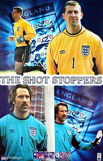 "Nigel Martyn and David Seaman ""Shot Stoppers"" Team England Football Poster - Starline 2000"