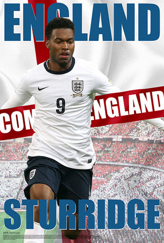 "Daniel Sturridge ""Come On England"" World Cup 2014 Soccer Poster - Starz"