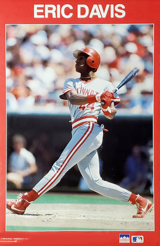 Eric Davis Cincinnati Reds MLB Baseball Action Poster - Starline Inc. 1989
