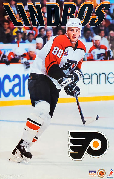 "Eric Lindros ""Action"" Philadelphia Flyers NHL Action Poster - Starline Inc. 1993"
