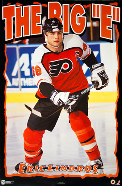 "Eric Lindros ""The Big E"" Philadelphia Flyers Poster - Norman James Corp. 1995"