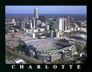 "Bank of America Stadium ""From Above"" (Charlotte) Premium Poster Print  - Aerial Views"