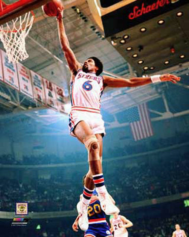"Julius Erving ""Revolution"" (1977) Philadelphia 76ers Premium Poster Print - Photofile"