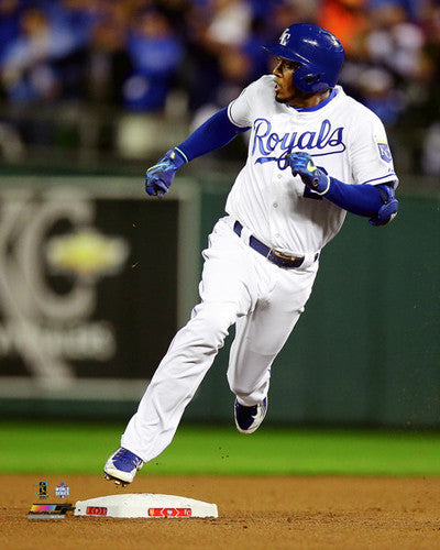 "Alcides Escobar ""All the Way"" KC Royals 2015 World Series Premium 16x20 Poster Print"