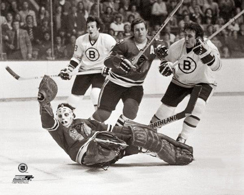 Phil Esposito vs. Tony Esposito Bruins vs. Blackhawks c.1972 Premium Poster Print - Photofile Inc.