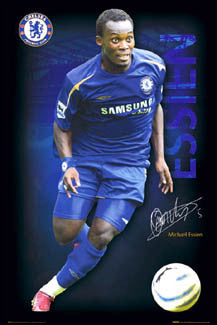 "Michael Essien ""Signature Series"" Chelsea FC Soccer Poster - GB Posters 2005"