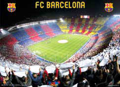 FC Barcelona Estadio (Camp Nou) Stadium Game Night Poster - CPG 2007