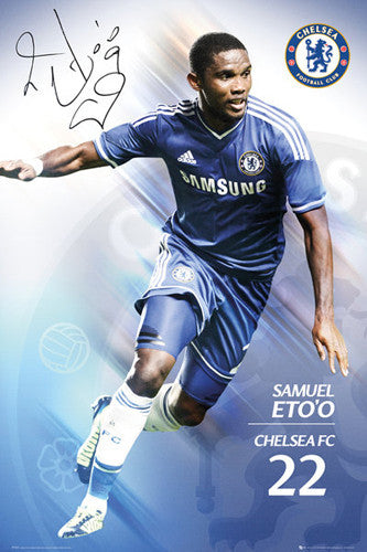 "Samuel Eto'o ""Signature"" Chelsea FC Official Action Poster - GB Eye (UK)"