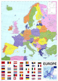 Map of Europe (Political) Wall Poster - GB Eye