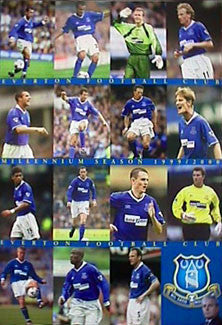 "Everton F.C. ""Millennium Season"" 1999/2000 Team Poster - UK"