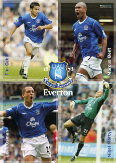 "Everton FC ""Four Stars"" - GB Posters 2005"