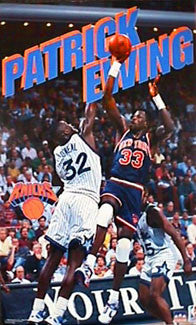 "Patrick Ewing ""Fadeaway"" New York Knicks NBA Action Poster - Starline Inc. 1993"