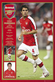 "Cesc Fabregas ""Profile"" Arsenal FC Poster - GB Eye 2008"