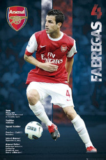 "Cesc Fabregas ""Superstar"" Arsenal FC Poster - GB Eye 2010"