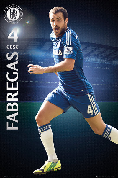 "Cesc Fabregas ""Superstar"" Chelsea FC Official EPL Action Poster - GB Eye (UK)"