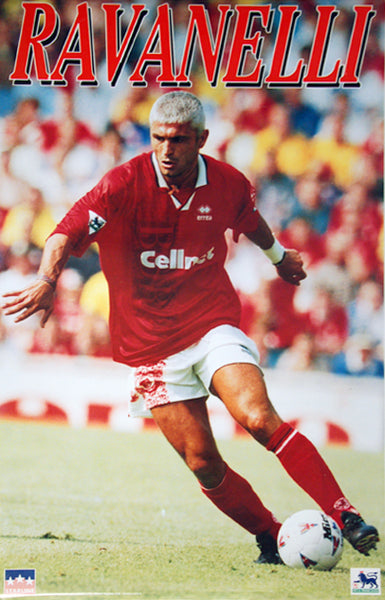 "Fabrizio Ravanelli ""Action"" Middlesbrough FC Poster - Starline Inc. 1996"