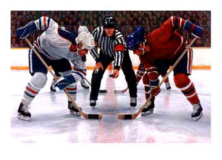 Face Off by Ken Danby Hockey Art Poster Print - Ken Danby Studios