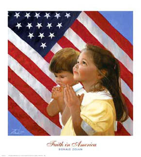 Faith in America by Donald Zolan Premium Patriotic Poster Print - New York Graphic Society