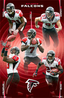 "Atlanta Falcons ""Five Stars"" NFL Action Poster - Costacos 2006"