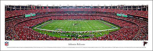 Atlanta Falcons Georgia Dome Panoramic Poster Print - Blakeway Worldwide