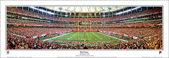 "Atlanta Falcons ""End Zone"" Georgia Dome Panoramic Poster Print - Everlasting 2012"
