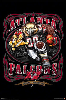 "Atlanta Falcons ""Grinding it Out Since 1966"" Team Theme Poster - Costacos Sports"