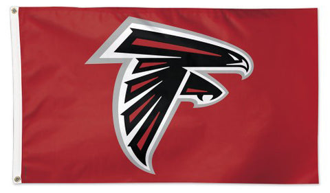 Atlanta Falcons Logo-On-Red-Style Official NFL Football DELUXE 3'x5' Team Flag - Wincraft Inc.