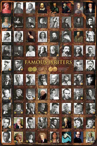 Famous Writers English Literature Educational Wall Chart Poster - Eurographics Inc.