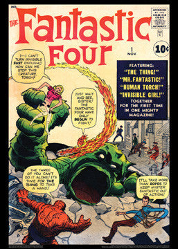 Fantastic Four #1 (Nov. 1961) Marvel Comics Classic Cover Poster Print - Asgard Press