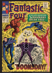 "Fantastic Four #59 ""Doomsday"" (Feb. 1967) Vintage Comic Book Cover POSTER Print - Asgard Press"