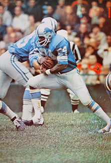 Mel Farr Detroit Lions Sports Illustrated Classic Original Poster (1969) - Renselaar Corp. #6N24