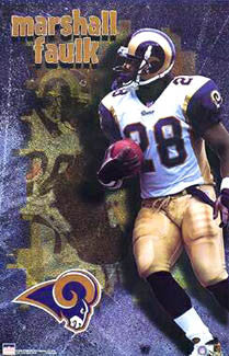 "Marshall Faulk ""Superstar"" St. Louis Rams Poster - Starline 2000"