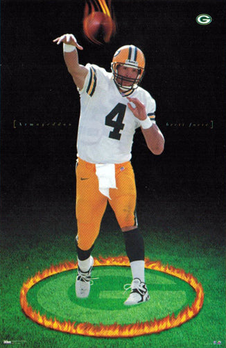 "Brett Favre ""Armageddon"" Green Bay Packers NFL Action Poster - Costacos 1998 - LAST ONE!"