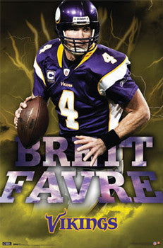 "Brett Favre ""Electric!"" Minnesota Vikings Poster - Costacos 2010"