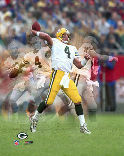 "Brett Favre ""Go Deep"" (Multi-Exposure) Green Bay Packers Premium Poster Print - Photofile Inc."