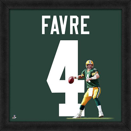 "Brett Favre ""Number 4"" Green Bay Packers FRAMED 20x20 UNIFRAME PRINT - Photofile"