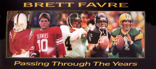 "Brett Favre ""Passing Through the Years"" Poster - Official Brett Favre"