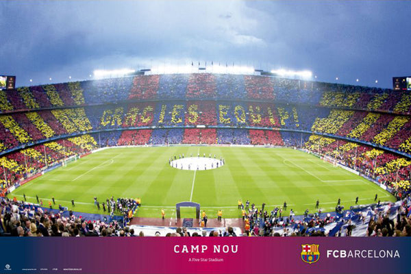 "FC Barcelona Camp Nou Stadium ""Gracie Equip"" Game Night Poster - Grupo Erik (Spain)"