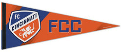 "FC Cincinnati ""FCC"" Official MLS Soccer Premium Felt Collector's Pennant - Wincraft Inc."