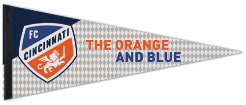 "FC Cincinnati ""The Orange And Blue"" MLS Soccer Premium Felt Collector's Pennant - Wincraft Inc."