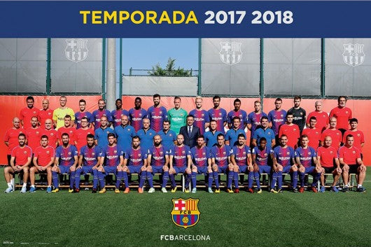 FC Barcelona Official Team Portrait 2017/18 Poster - G.E. (Spain)