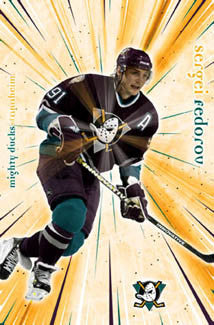 "Sergei Fedorov ""Flash"" Anaheim Mighty Ducks Poster - Costacos 2005"