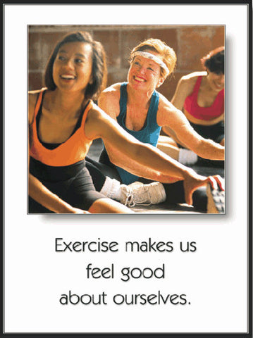 "Aerobics ""Feel Good About Ourselves"" Motivational Poster - Fitnus Corp."