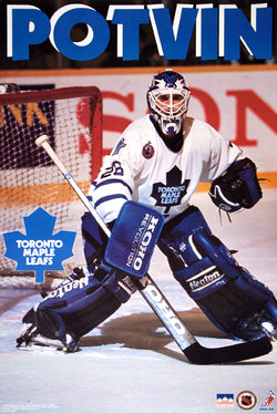 "Felix Potvin ""Action"" Toronto Maple Leafs NHL Goalie Action Poster - Starline 1993"
