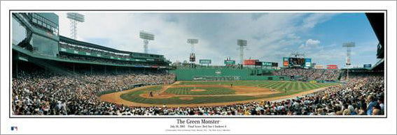 "Fenway Park ""The Green Monster"" Red Sox Panoramic Poster Print - Everlasting Images"