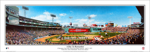 "Fenway Park ""A Day To Remember"" Panoramic Poster Print (April 11, 2005) - Everlasting Images"
