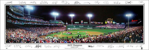 "Fenway Park ""2007 ALCS Champs"" (w/25 Signatures) Panoramic Poster Print - Everlasting Images"