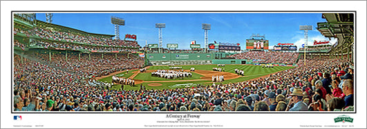 "Fenway Park ""A Century at Fenway"" Boston Red Sox Panoramic Poster (4/20/2012)"