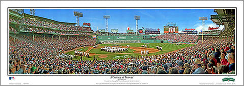 "Fenway Park ""A Century at Fenway"" Boston Red Sox Panoramic Poster (4/20/2012) - Everlasting Images"